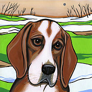 Beagle Paintings - Beagle by Leanne Wilkes