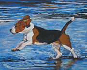 Beagle Paintings - Beagle by Lee Ann Shepard