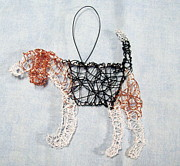 Dog Sculptures - Beagle ornament by Charlene White