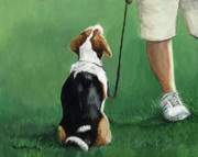 Sports Art Painting Originals - Beagle Sit by Charlotte Yealey