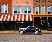Cadillac Painting Posters - Beale Street Memphis Poster by Frank Dalton