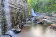 Grist Mill Art - Beans Mill Dam on Halawaka Creek by JC Findley