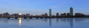 Boston Skyline Posters - Beantown on Ice Poster by Juergen Roth