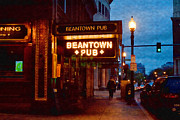Boston Nights Posters - Beantown Pub Poster by Joann Vitali