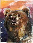 Indigenous Prints - Bear - Guardian of the West Print by J W Baker