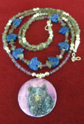Hand Painted Jewelry - Bear 1 by Connie Owens