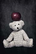 Toy Posters - Bear And Apple Poster by Joana Kruse