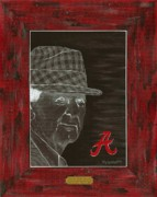 Bryant Paintings - Bear Bryant by Herb Strobino