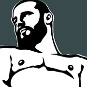 Gay Digital Art - Bear by Chris  Lopez