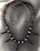 Medicine Bags Jewelry - Bear Claws Faceted Turquoise  by White Buffalo