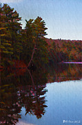 Poconos Art - Bear Creek Lake in the Poconos by Bill Cannon