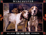 Winchester Prints - Bear Dogs Print by H R Poore