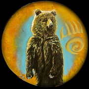 Paw Mixed Media Posters - Bear  Poster by Ethan  Foxx
