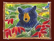 Bear Art Paintings - Bear in the Sumac by Harriet Peck Taylor