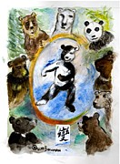 On Paper Photo Originals - Bear Master of Chi by Vrindaji Bowman