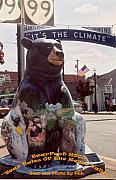 Tourism Sculpture Prints - Bear Tales of the Rogue Valley Print by Kel Letvinchuck