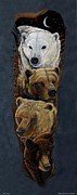 Kodiak Mixed Media Prints - Bear Totem Print by Sandra SanTara