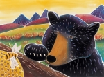 Batik Painting Posters - Bear with a Sweet Tooth Poster by Harriet Peck Taylor