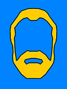 Pop Art Art - Beard Graphic  by Pixel Chimp