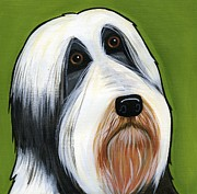 Collie Painting Framed Prints - Bearded Collie Framed Print by Leanne Wilkes