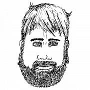 Face Drawings - Bearded Man by Karl Addison