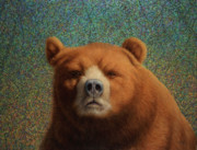 Bear Paintings - Bearish by James W Johnson