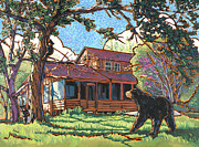 Nadi Spencer Painting Prints - Bears at Barton Cabin Print by Nadi Spencer