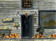 Pumpkins Originals - Bears Mill by Marsha Elliott
