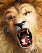 Lion Digital Art Originals - Beast by Bill Fleming