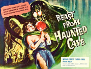Lobbycard Framed Prints - Beast From Haunted Cave, Sheila Carol Framed Print by Everett