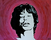 Mick Jagger Paintings - Beast of Burden by Austin James