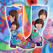 Peter Max Framed Prints - Beatle Boots Framed Print by Mary Johnson