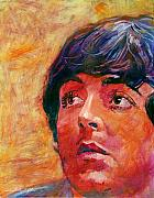 Rock Music Paintings - Beatle Paul by David Lloyd Glover
