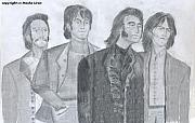 Beatles Digital Art - Beatles 1968 by Moshe Liron