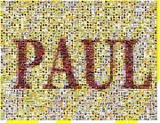Beatles Mixed Media - Beatles Albums Mosaic PAUL by Paul Van Scott