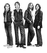 Beatles Drawing Print by Murphy Elliott