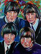 George Harrison Paintings - Beatles by Dyanne Parker