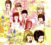 Beatles Digital Art - Beatles girls one by Moshe Liron