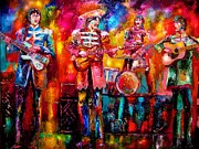 Musicians Painting Originals - Beatles Hello Goodbye by Leland Castro