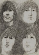 Beatles Drawings - Beatles by Jami Cirotti