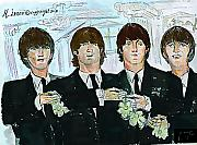 Beatles Digital Art - Beatles M.b.e by Moshe Liron