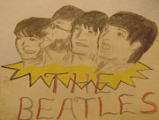 Mccartney Drawings - Beatles by Paul Rapa