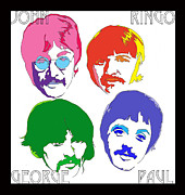 Fab Four Framed Prints - Beatles Framed Print by Samuel Veta
