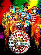 Sgt Pepper Framed Prints - Beatles Sgt. Pepper Framed Print by Leland Castro
