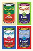 Layered Digital Art Posters - Beatles Soup Poster by Gary Grayson