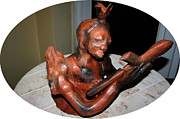 Sculpture Ceramics Metal Prints - Beatrice Metal Print by Gloria Ssali
