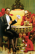 Playing Cards Painting Framed Prints - Beats the Devil Framed Print by Unknown