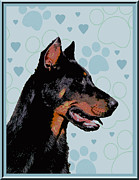 Beauceron Print by One Rude Dawg Orcutt