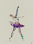 Dancer Paintings - Beautiful Ballerina by Irina  March
