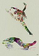 Silhouette Painting Posters - Beautiful Ballet Poster by Irina  March
